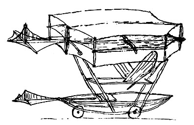 George Cayley's 1848 Monoplane Glider Sketch  Courtesy of: George Cayley