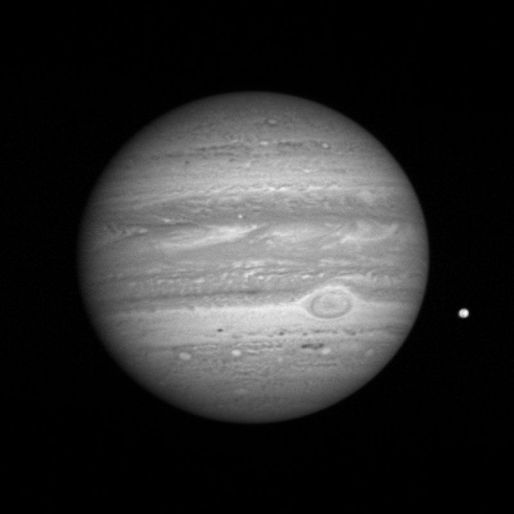 Jupiter as viewd by New Horizon's LORRI in early 2007