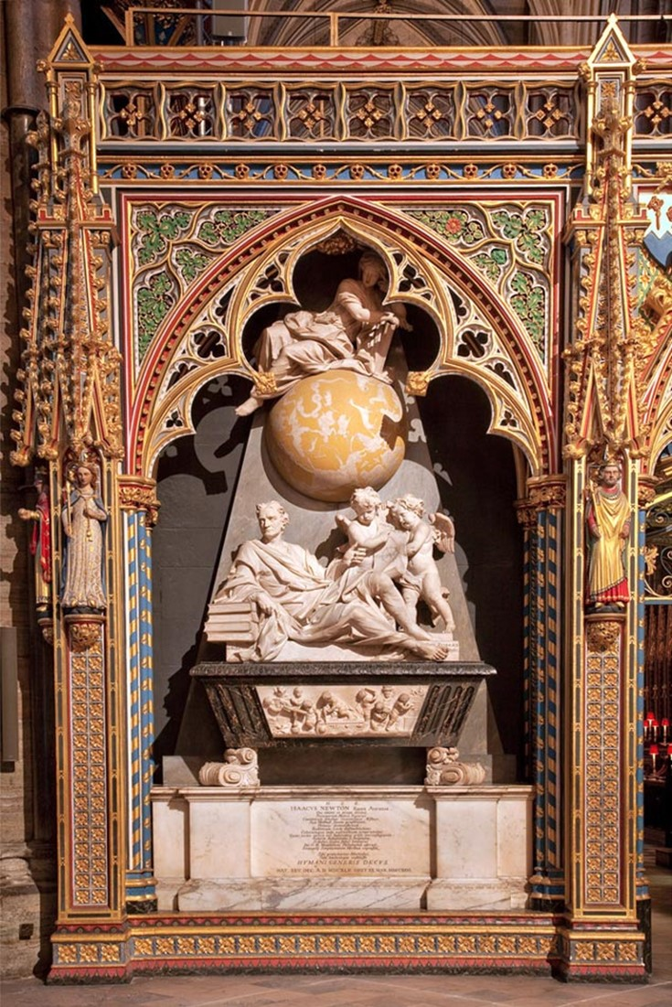 isaac-newton-monument-surround-westminster-abbey
